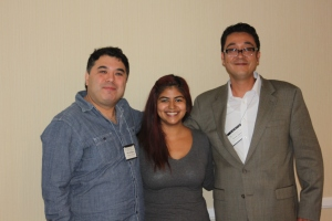 From left to right: Marc Simon Rodriguez, Brenda Medina-Hernandez, and Dennis Aguirre