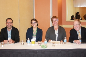 From left to right: Pablo Mitchell, Natalie Lira, Heather Sinclair, and Matthew Klingle