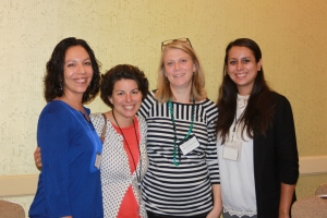 From left to right: Carolina Monsivais, Mary Mendoza, Katherine Benton-Cohen, and Jennifer Macias