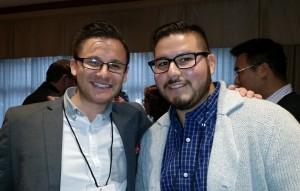 Kris Klein (left) and Gene Morales